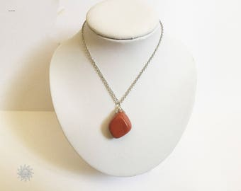 Red Jasper necklace and chain