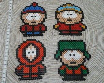 Lot 4 South Park characters. pixel art