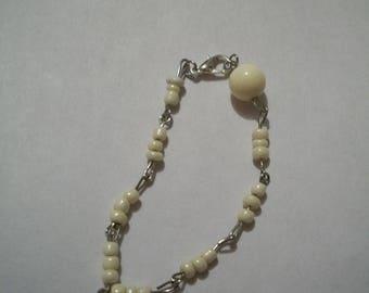 Handmade White Pearl bracelet