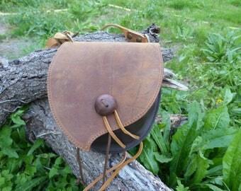 """""""Antique Brown"""" in dark brown purse bag"""
