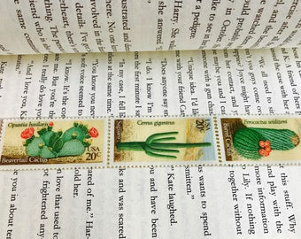 Cacti Postage Stamp Bookmark