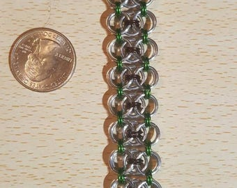 "Handmade ""Modified Helmsweave"" Chainmaille Bracelet"