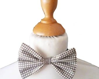 Bow tie boy Brown and white gingham
