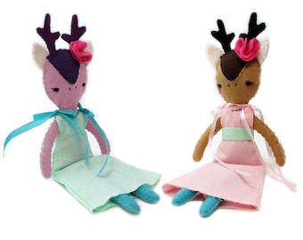 deer stuffed animal, deer sewing pattern, deer doll, deer doll pattern, deer doll sewing pattern, deer toy, deer sewing pdf, deer pattern