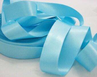 1.50 m 25 mm - Lot 18 lagoon blue satin ribbon