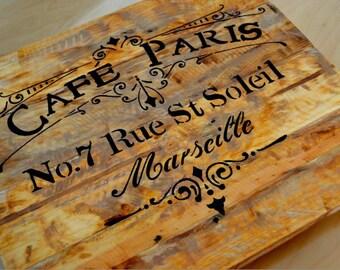 Cafe Paris Vintage - wall decor - table 32x28cm