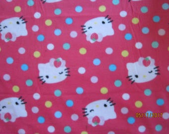 Miss Kitty fleece blanket