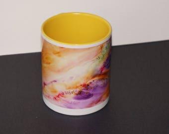 Mug League - ceramic from my watercolor