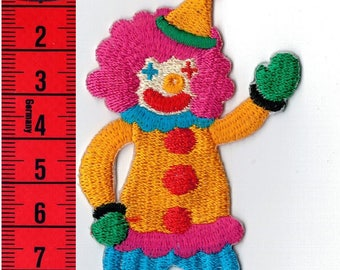 Patch fusible and sew Clown. Patch applique