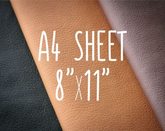 Faux leather sheets, PU leather, vegan leather, colorful leather, craft supplies, diy supplies, A4 leather fabric sheet