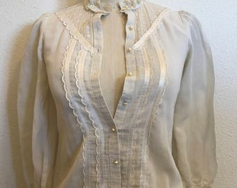 Gunne Sax by Jessica McClintock Blouse