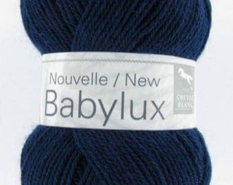 Wool BABYLUX color Admiral No. 094 white horse