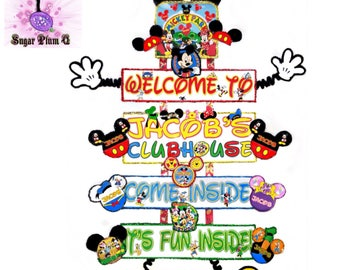 Personalized Mickey Mouse Clubhouse (Hanging Version) Party Sign