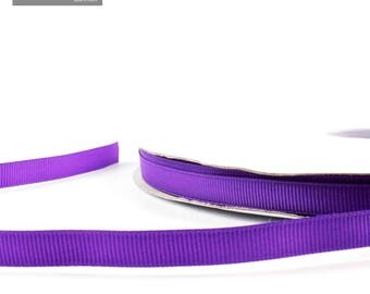 Purple 10 mm plain grosgrain Ribbon sold by the yard