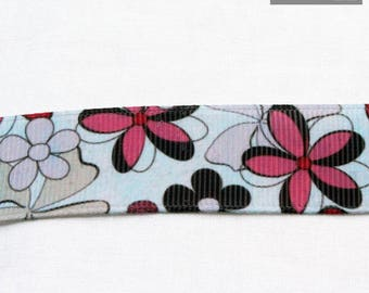 Flower 22 mm grosgrain Ribbon sold by the meter