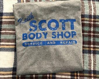 Keith Scott Body Shop grey crew neck t-shirt