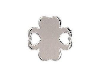 Pendant 2 clover holes lucky Silver 925/000