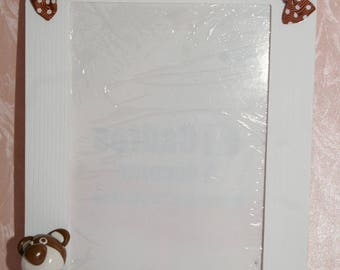 Picture frame with decorative Teddy Fimo