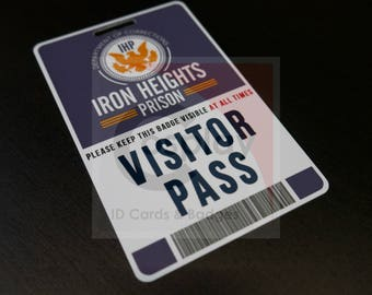 Iron Heights Prison Visitor Badge, The Flash, Barry Allen, Cosplay ID Card, IHP