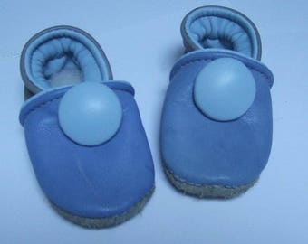 6 months booties blue leather