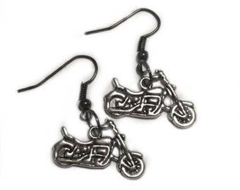 NEW Cute Motorcycle Harley Cruiser Girl Earrings