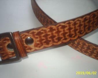 full grain cowhide leather belt