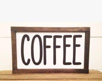 Coffee sign 7 x 13