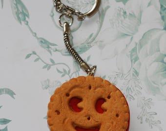 Door keys/Mini chocolate Strawberry snack bag charm