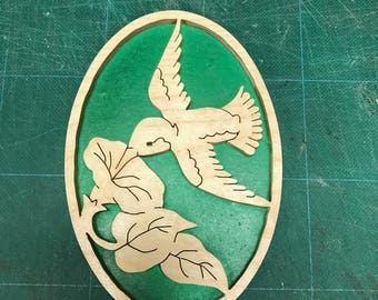 Hummingbird wall plaque 2