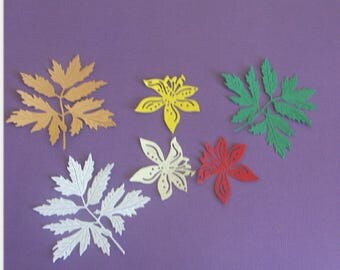 Foliage and flowers - paper cuts - (die cuts)