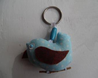 Key ring bird twig