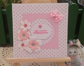 Birth, wedding, christening, engagement, daughter card