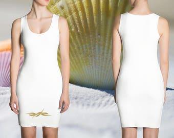 Goldierra Dress - Gold Flower