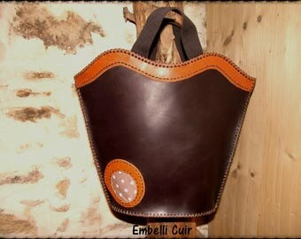 Fancy Brown genuine leather bag
