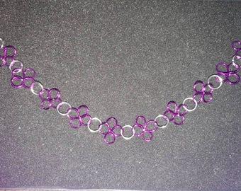 244. Hand Crafted Flower Bracelet