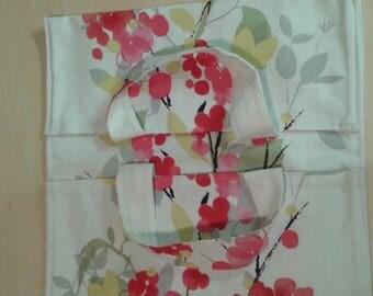 Multicolor flowers pie bag