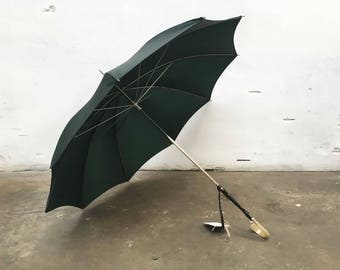 Vintage dark green green umbrella