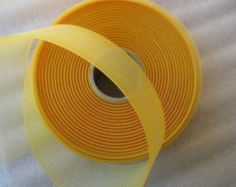 tulle in 4.5 cm bright yellow for wedding or baptism