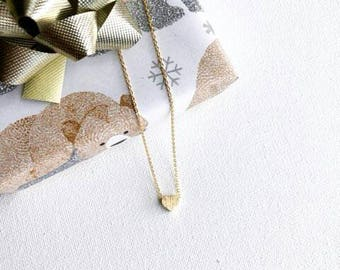 Gold Heart Dainty Necklace