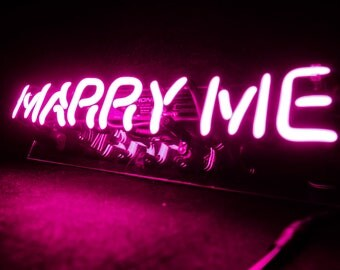 Marry me sign etsy for Marry me light up letters