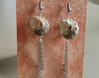 Shell and tassel earrings