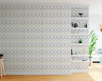 Four Squares Pattern Removable Wallpaper