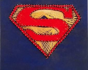 Superman Logo String Art