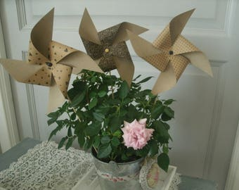 set of 3 windmills in paper No. 3