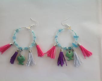 Colorful summer earrings