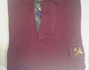 Classic Ralph Lauren L/S Mesh Polo Shirt (M)