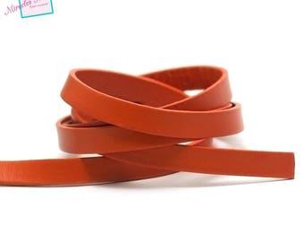 1 m strap 10 mm genuine leather cord, orange