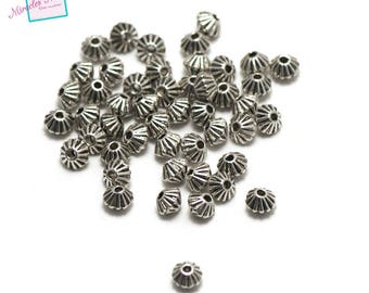 "50 pearls ""4, 5 x 3, 5 mm bicone"", silver, 094"
