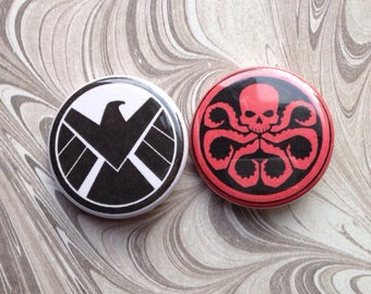 Shield and Hydra Button Set