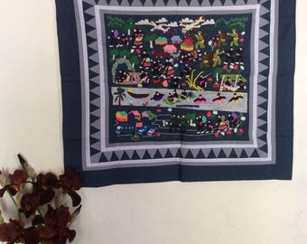 Hand embroidery Hmong life story cloth